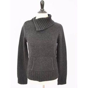 J. CREW Gray Turtleneck Wool Pullover SWEATER M